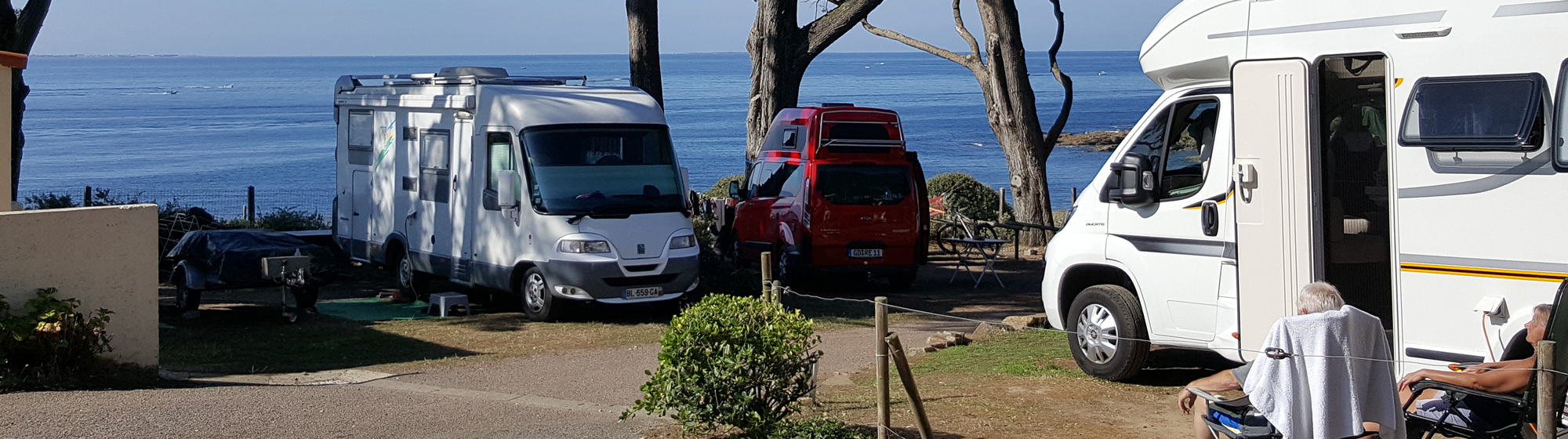 Emplacement camping car Camping sur la Pointe Préfailles