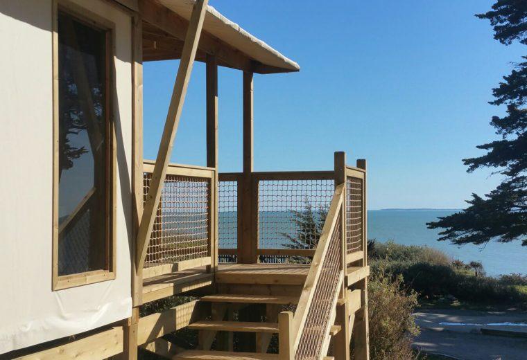 Location insolite vue sur mer camping Préfailles